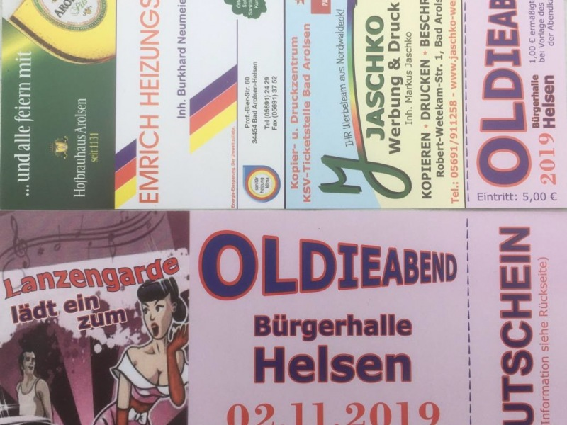 Oldieabend 2019 Flyer